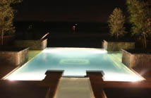 glowing swimming pool resultant from swimming pool lighting